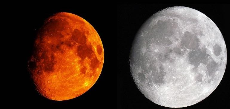 confronto marte luna